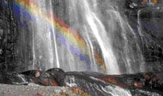 Bild von Acquafraggia Wasserfälle am Comer See in Italien