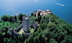 Bild von Burg von Vezio am Comer See in Italien