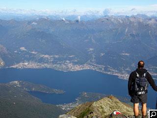 Bild von Gipfelblick von  Legnone Comer See