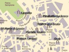 Bild von Stadplan von Mailand in Italien