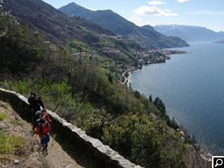 Bild von Sentiero del Viandante zwischen Colico und Dervio am  Comer See