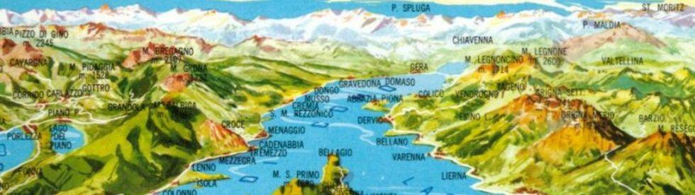 Bild von Landkarte Comer See