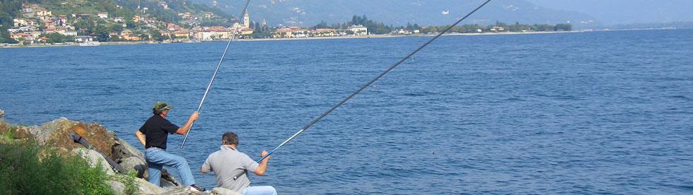Bild von Angler im Urlaub am Comer See