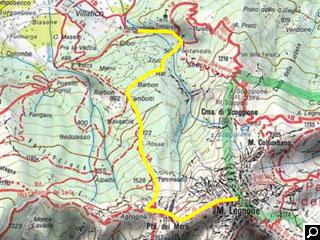 Bild von Wander-Tour 1a Legnone Comer See