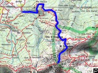 Bild von Wander-Tour 1b Legnone Comer See