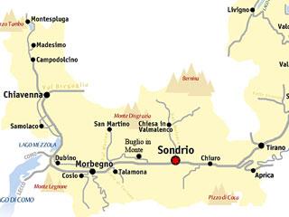 Bild von Karte Weingebiet Valtellina
