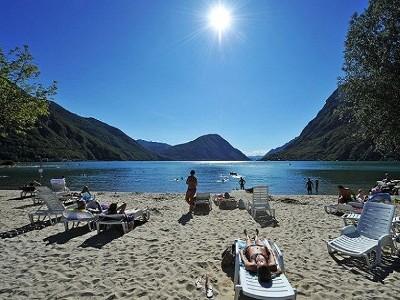 Bild von Sommer in August am Comer See
